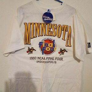 NCAA FINAL FOUR SHIRT 1997 MINNESOTA  NEW
